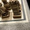 Xadrez artesanal feito en Galiza. Detalle taboleiro 2
