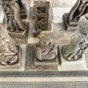 Xadrez artesanal feito en Galiza. Detalle taboleiro 3